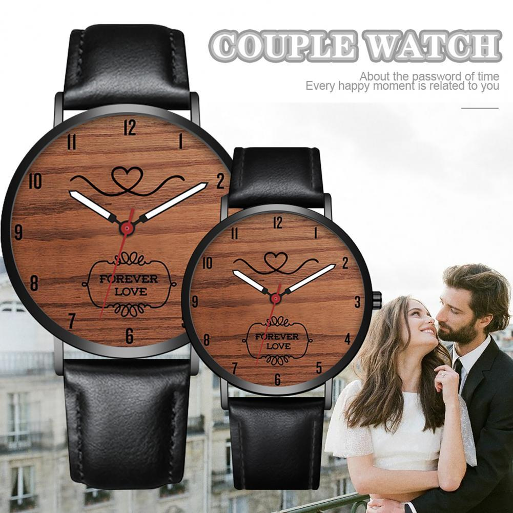 Fashion Couple Watch Casual Leather Strap Wristwatch For Man Women Watches Simple Classic Lover's Wr