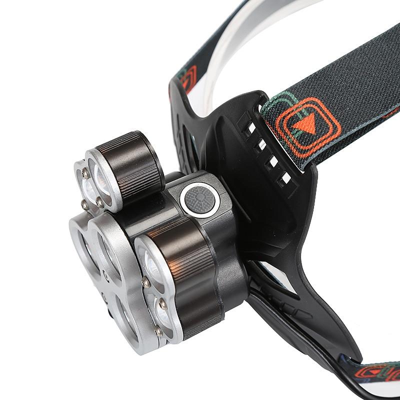 Fishing Hiking Headlamp Strap Waterproof Rechargeable Headlamp Powerful Searchlight Linterna De Cabeza Outdoor Lighting DE50TD enlarge
