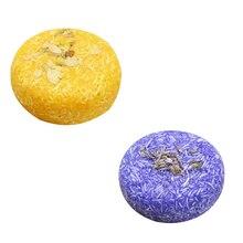 Savon rafraîchissant aux huiles essentielles végétales savon à lhuile dolive-fleur savon lissant pour cheveux (jasmin + lavande) traité Anti-pelliculaire