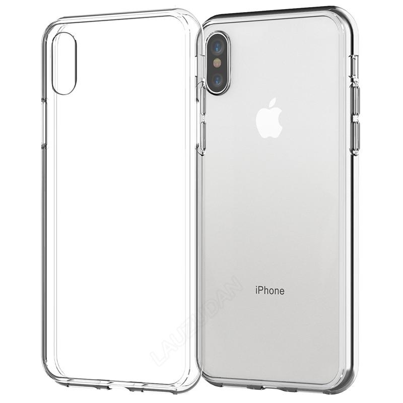 Caso claro do telefone para o iphone 7 caso iphone xr silicone macio capa para o iphone 11 12 min xs max x 8 7 6 s mais 5S se 2020