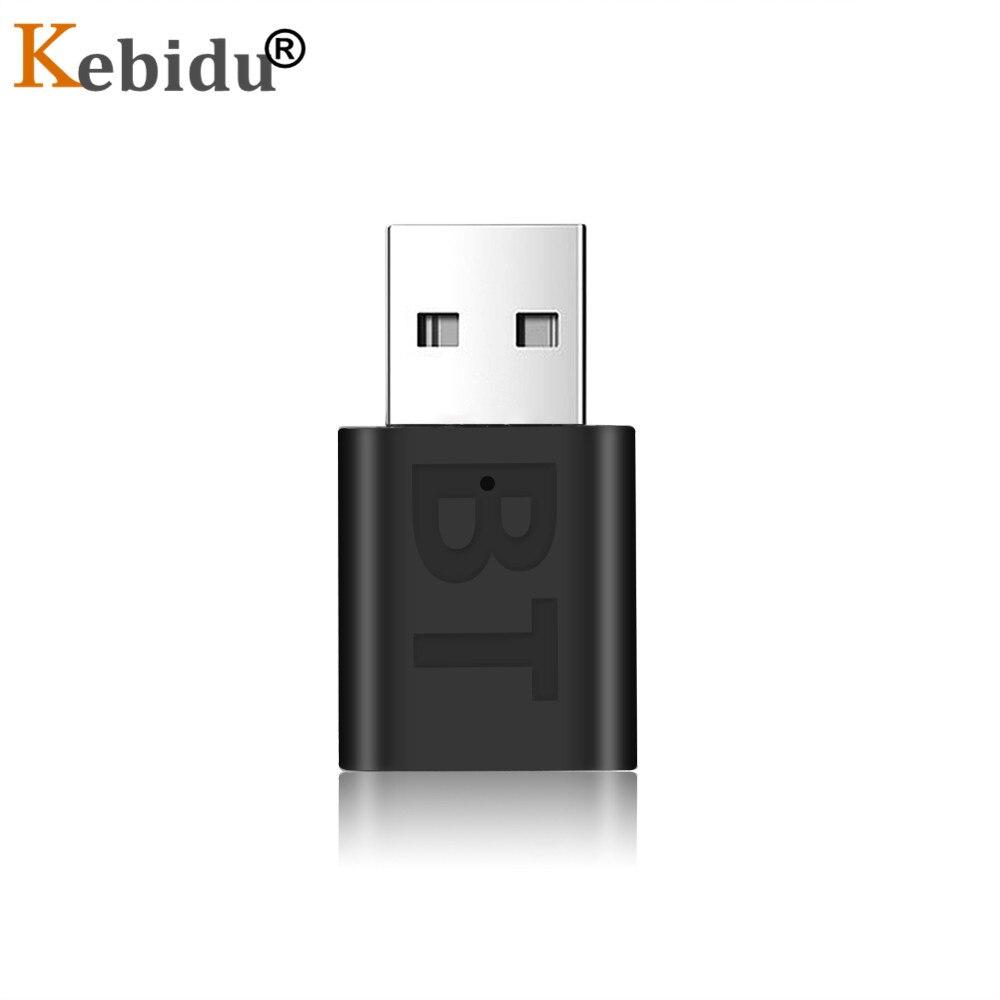 Kebidu Mini BT 5,0 adaptador de receptor de Audio USB inalámbrico Bluetooth 3,5mm AUX música estéreo sin adaptador de transmisor para ordenador de coche