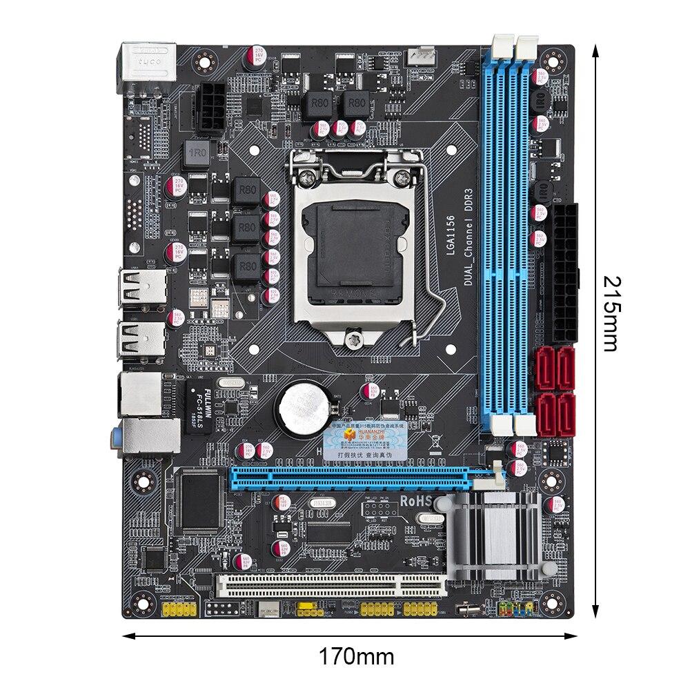 HUANANZHI P55 اللوحة المزدوجة قناة DDR3 الذاكرة USB2.0 PCI-E M-ATX سطح المكتب اللوحة ل إنتل LGA1156