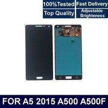 Pour Samsung Galaxy A5 2015 A500 A500F A500M téléphone portable LCD affichage écran tactile numériseur assemblée avec contrôle de la luminosité