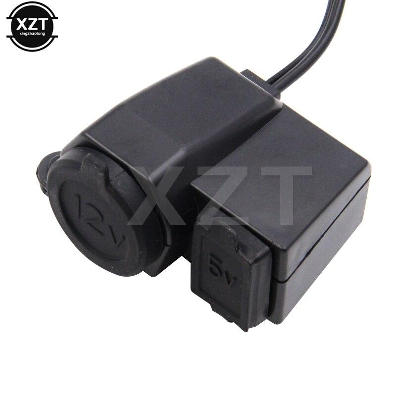 Черная водонепроницаемая розетка для прикуривателя 12 В для мотоцикла с 2,1 а USB портом питания адаптер розетка зарядное устройство для YAMAHA BMW
