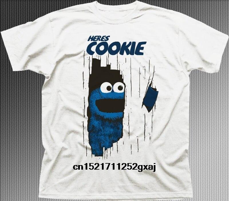 Camiseta blanca de la película brillante de los Muppets del monstruo de las galletas de Heres de los hombres camiseta de la novedad de las mujeres