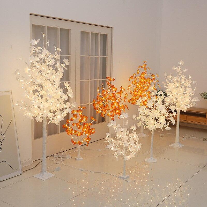 LED white birch tree lights decorative lamp family vacations EU interior modern creative Christmas New Year decorative lights