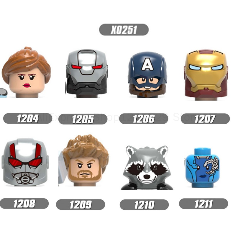 twisty parallel universe блузка 2021   X0251 Movie characters Hero Parallel universe Figures Fittings Head Building Block Toys Children