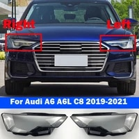 new head light caps for audi a6 a6l c8 2019 2021 car front headlight cover auto headlamp lampshade lamp glass lens shell case