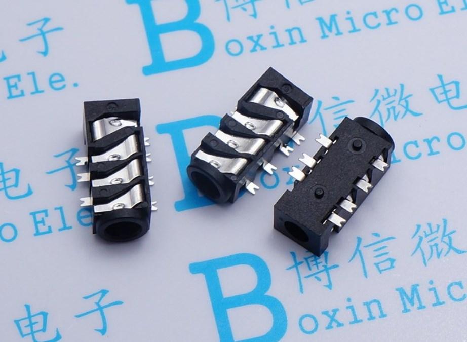 10pcs PJ393 PJ382 3.5 mm audio jack conector de montaje en PCB Enchufe hembra para auriculares multicanal de tubo de 7 Pin PJ393 para Media Player