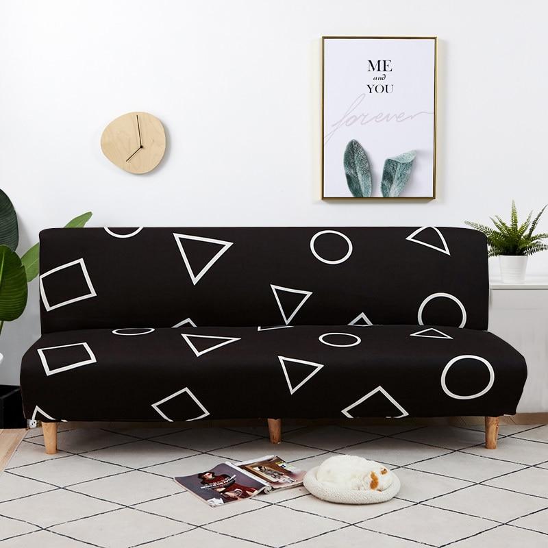 دنة غطاء أريكة سرير دون مسند الذراع غطاء أريكة قابلة للطي مرونة غطاء أريكة أريكة الأغلفة لغرفة المعيشة ديكور المنزل الحديثة