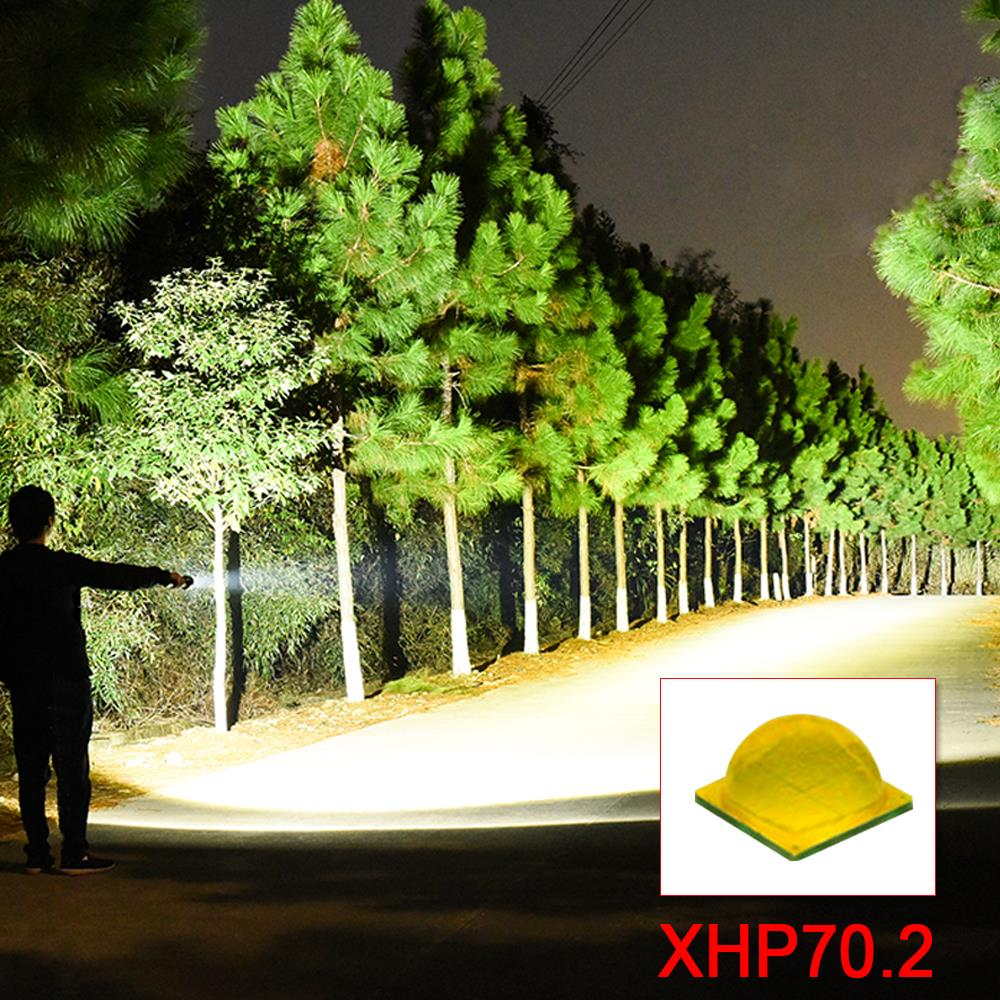 Lanterna led 18000 lumens xhp70.2 mais poderoso lanterna 26650 usb tocha xhp70xhp50 lanterna n18650 caça zoom lâmpada handlight