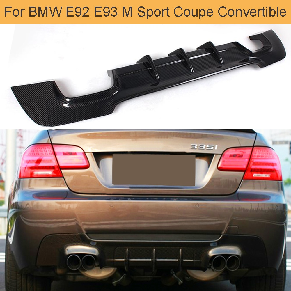 סיבי פחמן רכב אחורי פגוש מפזר שפתיים עבור BMW 3 סדרת E92 E93 M ספורט קופה להמרה 07-13 335i אחורי פגוש מפזר שפתיים