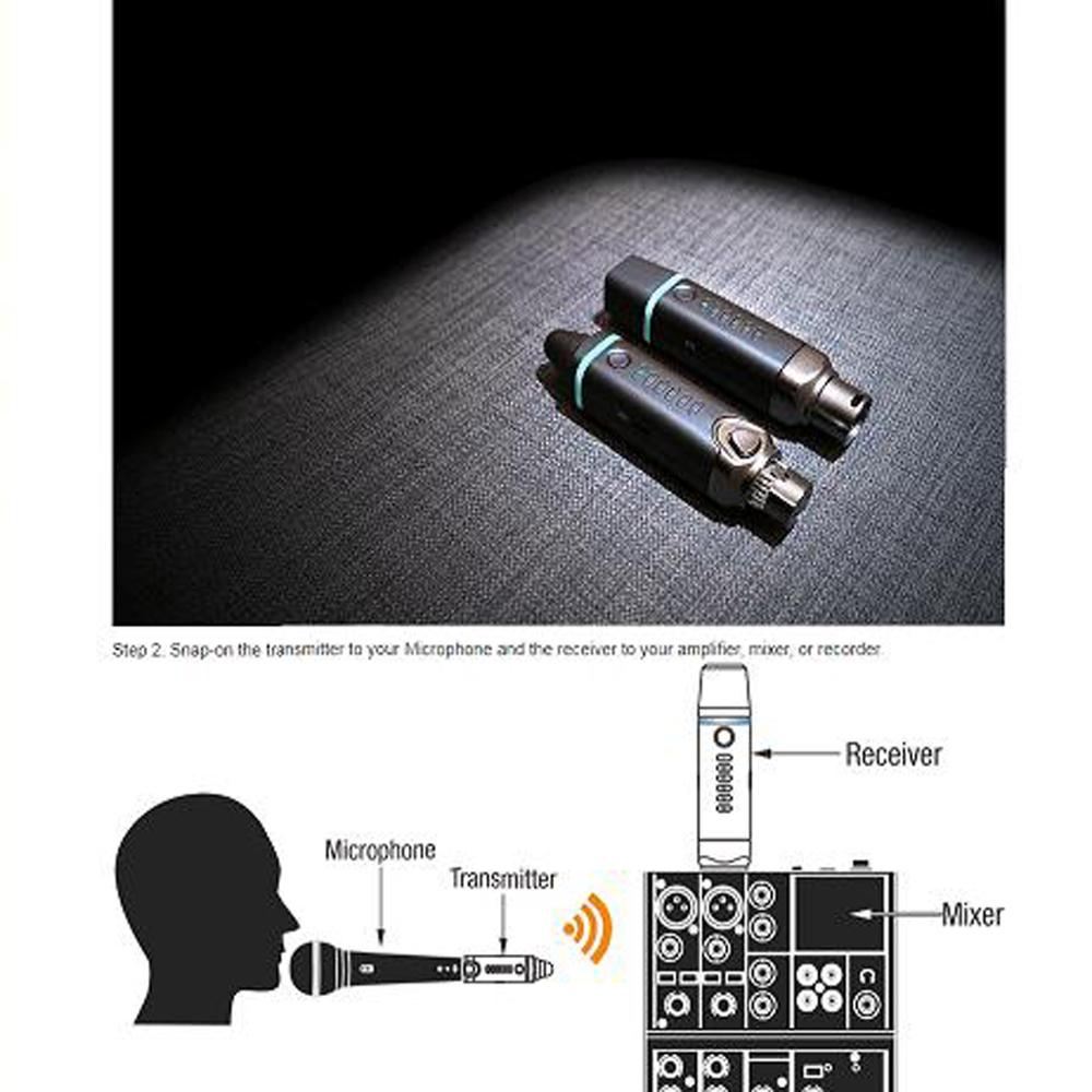 2.4GHz Digital Wireless Microphone Transmitter Receiver System for DJ Disco Stage Public Speaking Karaoke Sound Studio NUX B-3