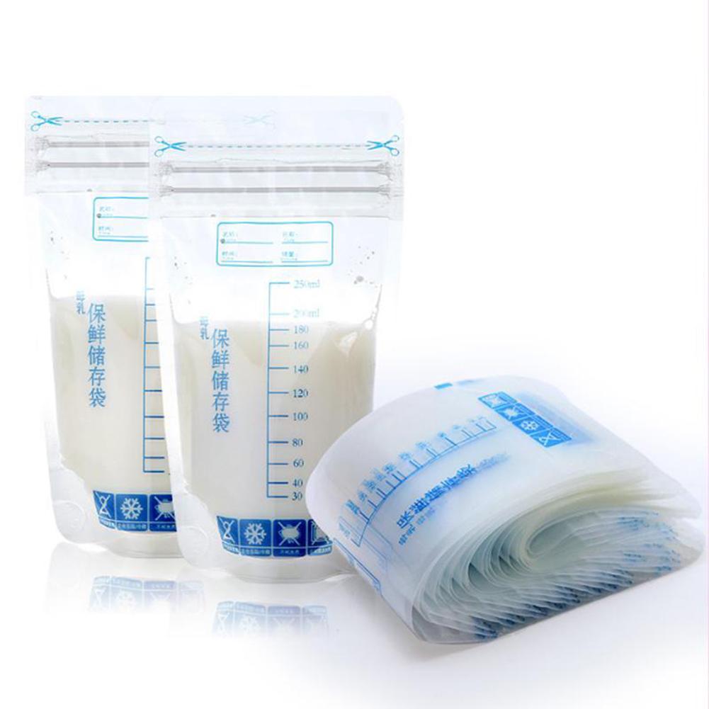 Bolsas de almacenamiento de leche materna de almacenamiento de alimentos para bebé,...