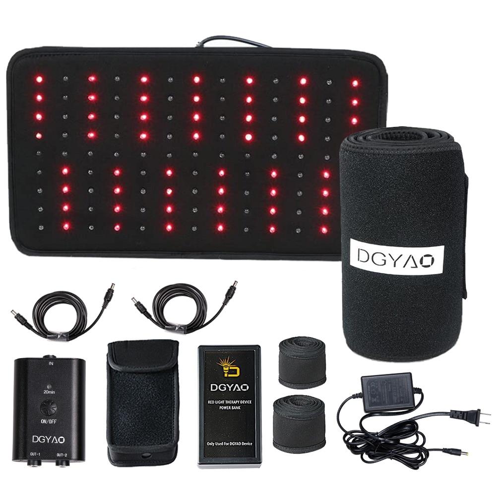 Dgياو LED العلاج بالضوء الأحمر إضاءة بالأشعة تحت الحمراء جهاز الصحة لتخفيف الآلام لعضلات العمود الفقري آلام المفاصل وعرق النسا مع بنك الطاقة