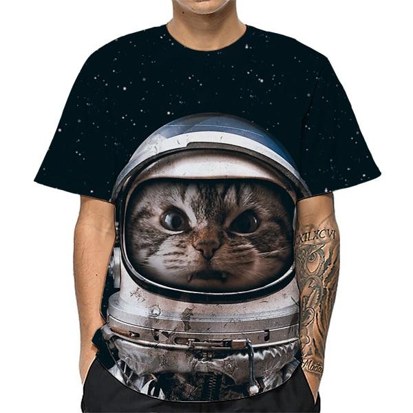 Cool Cat T-shirt Men/Women 3d T shirt Print Cute cat Short Sleeve O-Neck Clothes Summer Tops Tees funny t shirt Male Clothing женская футболка 2015 cat 3d t 1983