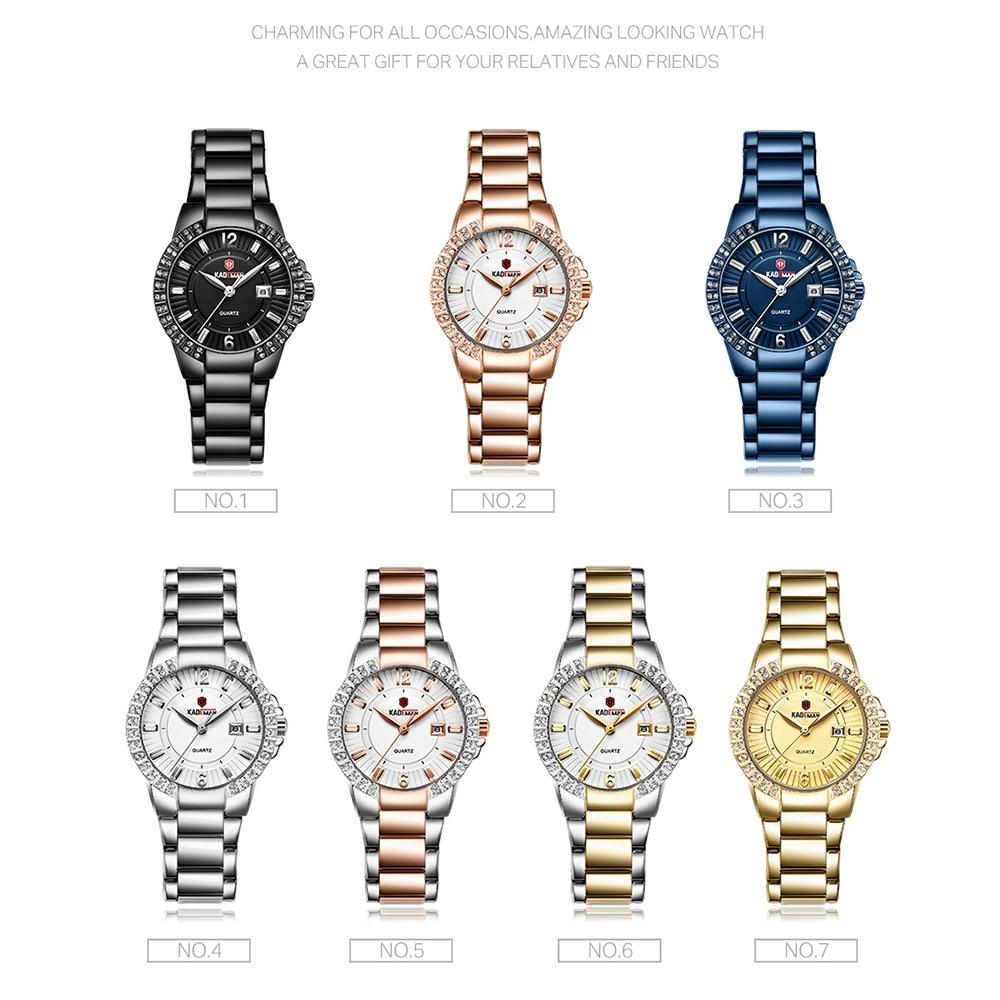 KADEMAN Women Luxury Dress Watch Crystals Zircon Ladies Watches Waterproof Full Steel TOP Brand Female Wristwatch Fashion Party enlarge