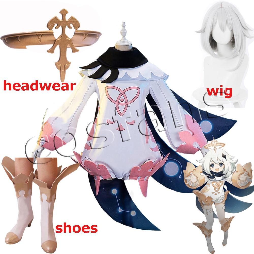 Костюмы для косплея Genshin Impact Paimon, милый комбинезон Paimon, косплей Genshin Impact, костюм, боди, униформа для женщин на Хэллоуин