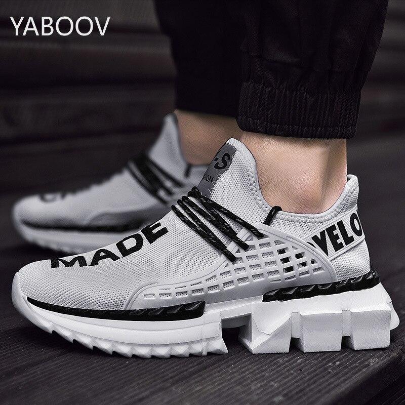 Los hombres deben elegir la plataforma zapatos casuales de deporte de los hombres zapatos transpirables de malla de aire deportes súper ligero modelos de explosión de gran tamaño 46 47