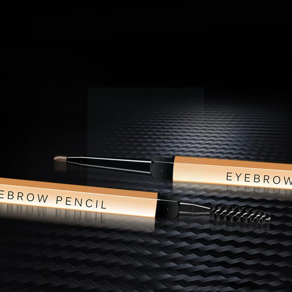 1PC Double-headed Eyebrow Pencil Long-lasting Golden Water-proof Choose Makeup Colors Eyebrow For Wo
