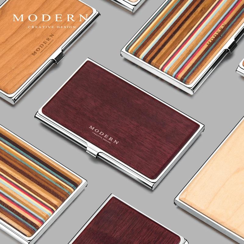 Titular do Cartão de Aço Criativo com Organizador do Cartão de Grande Moderno-marca Inoxidável Capacidade