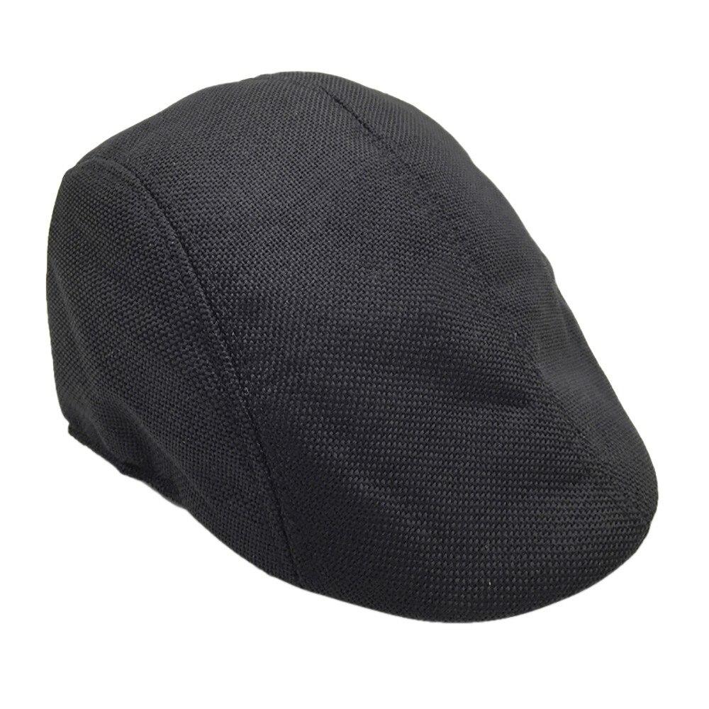 FWITONG hombres mujeres boinas ajustables al aire libre sol transpirable hueso ala sombreros mujeres hombres espiga sólido boinas planas gorra