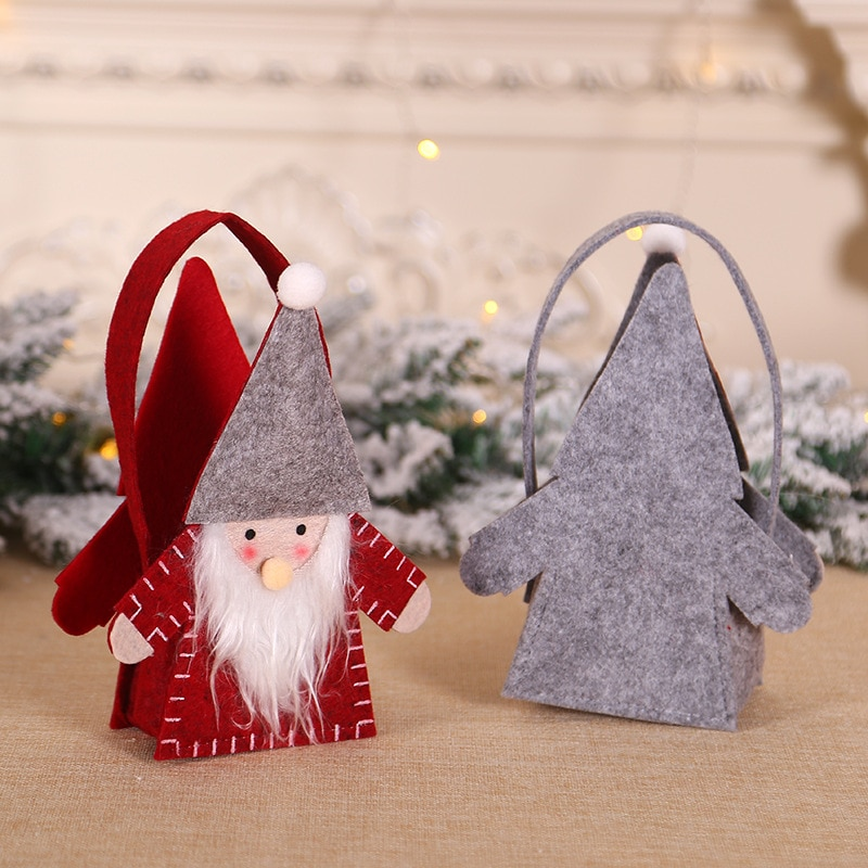 Christmas Non-woven Candy Gift Bag Forester Felt Fabric Decor Props Party Holiday Gift Decorations C