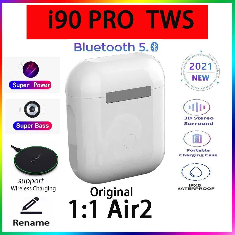 Original i90 PRO Tws 1:1 GPS nombre auriculares Bluetooth inalámbricos PK i7...