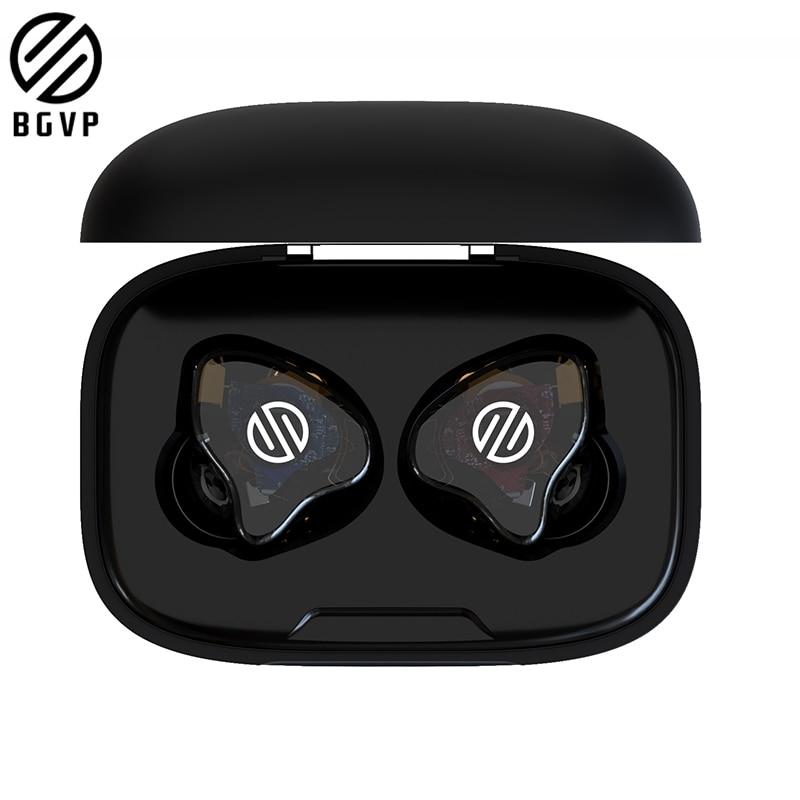 Nova bgvp q2 tws febre fone de ouvido sem fio bluetooth estéreo alta fidelidade em fones de ouvido suporte mmcx modo com fio com microfone