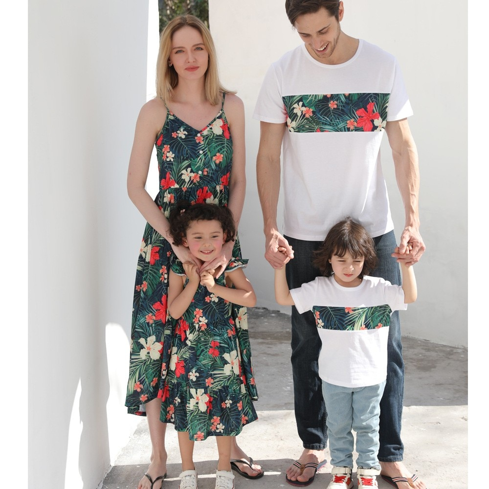 Family Matching Outfits For Photoshoot Family Look Mom And Daughter Dress Family Matching Shirts Set
