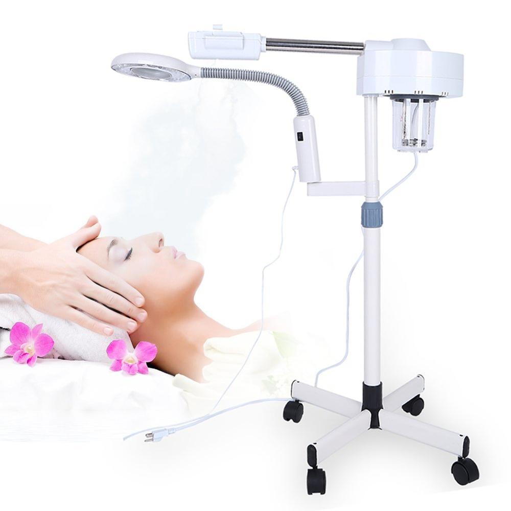 2 in1 Facial Sprayer Steamer LED 5X Magnifying Floor Lamp Machine Multifunction Spa Professional Humidif SPA Beauty Salon Supply