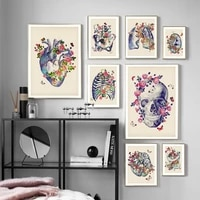 human anatomy lnternal organs retro art canvas painting nordic poster and prints wall pictures clinic hospital office decoration