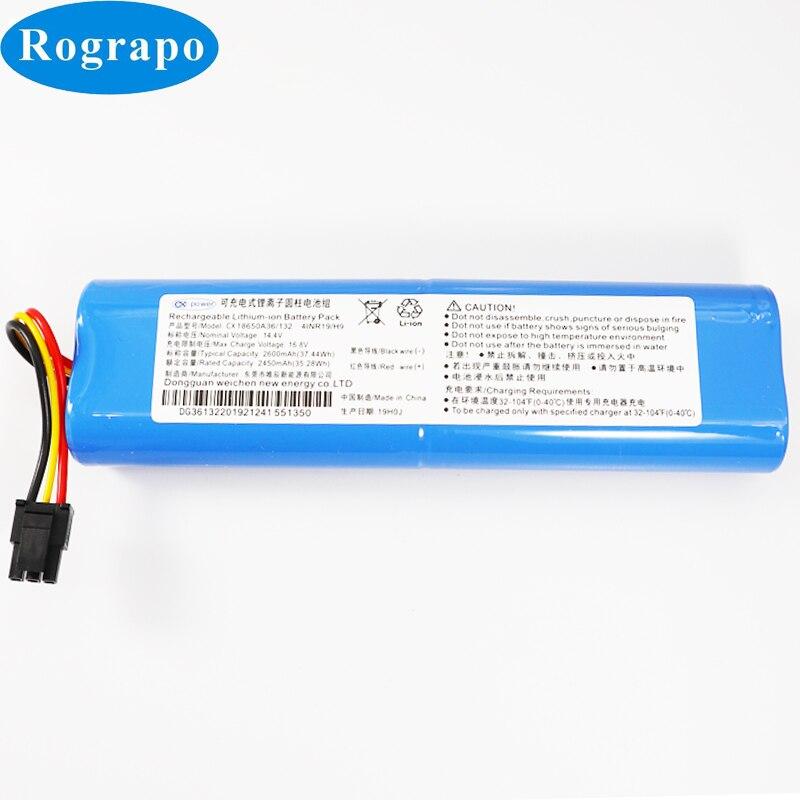 Nuevo 14,4 V 2600mAh 4S1P 18650 batería de repuesto para barredora CEN546 limpieza del Robot Jisiwei I3 Carlos acumulador