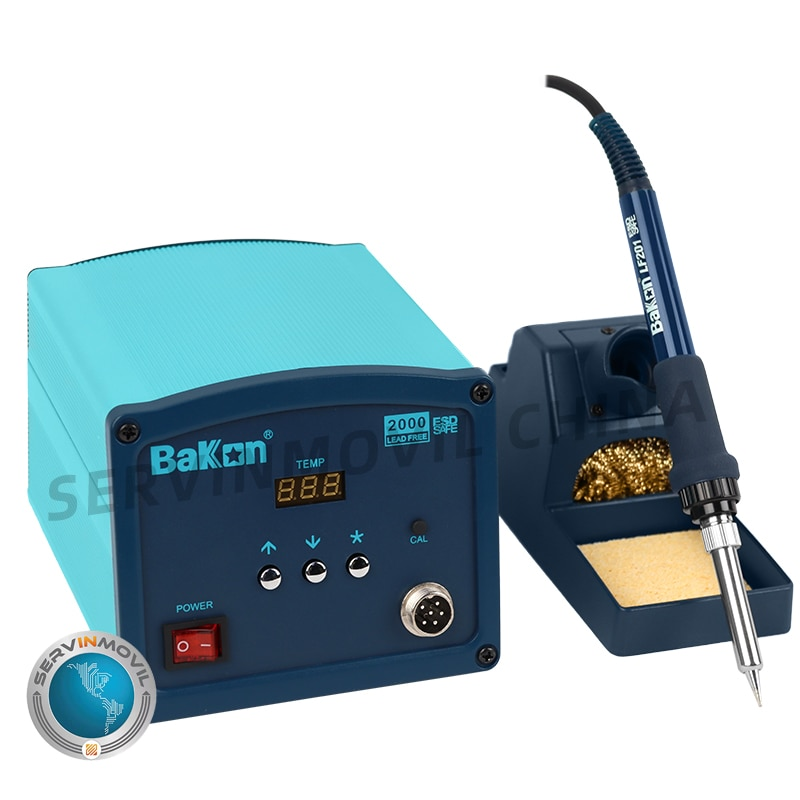 Bakon BK2000 High Frequency Eddy Heat Rework Iron Temperature Adjustable Soldering Station for Circuit Board enlarge