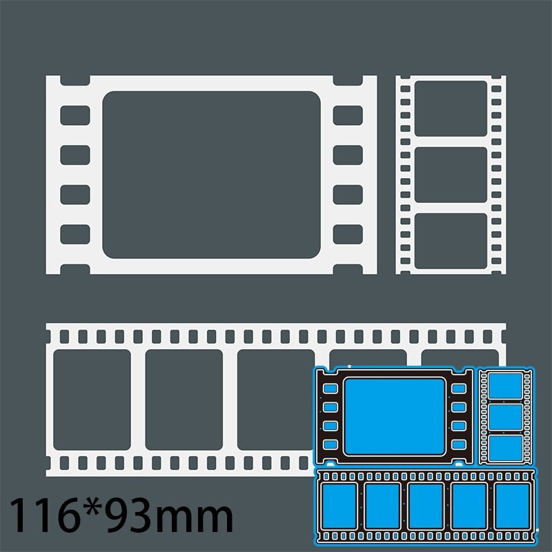Cutting Dies Film Decoration DIY Scrap Booking Photo Album Embossing Paper Cards 116*93mm