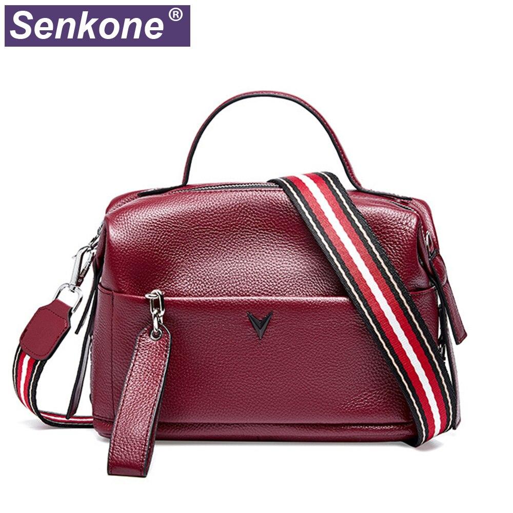 100% جلد طبيعي حقائب كروسبودي نساء حقائب اليد موضة المرأة حقيبة يد لفتاة السيدات عادية حقيبة ساع 2020 جديد المرأة حقيبة