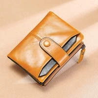vintage short wallet men genuine leather clutch wallets purses first layer real leather multi card bit retro card holder wallet
