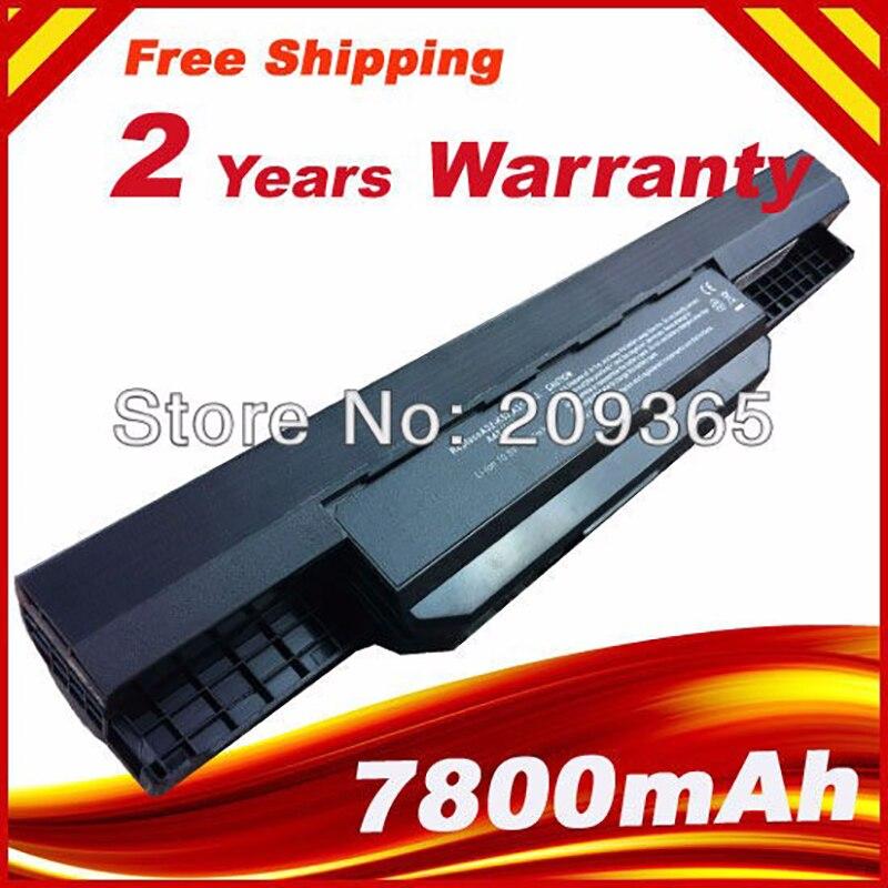 7800mAh 9 células A32-k53 de reemplazo de la batería de portátil para Asus K53U A43B K43BY X43S K43U K53T A53S A53SV K53SK X43TA