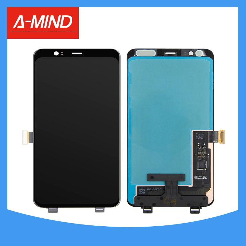 6.3 ''الأسود LCD لجوجل بكسل 4 XL OLED شاشة الكريستال السائل مجموعة المحولات الرقمية لشاشة تعمل بلمس
