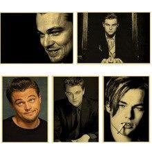 Leonardo DiCaprio film Poster Vintage Retro Matte Kraft Papier Antikes Plakat Wand Aufkleber Hause Decora