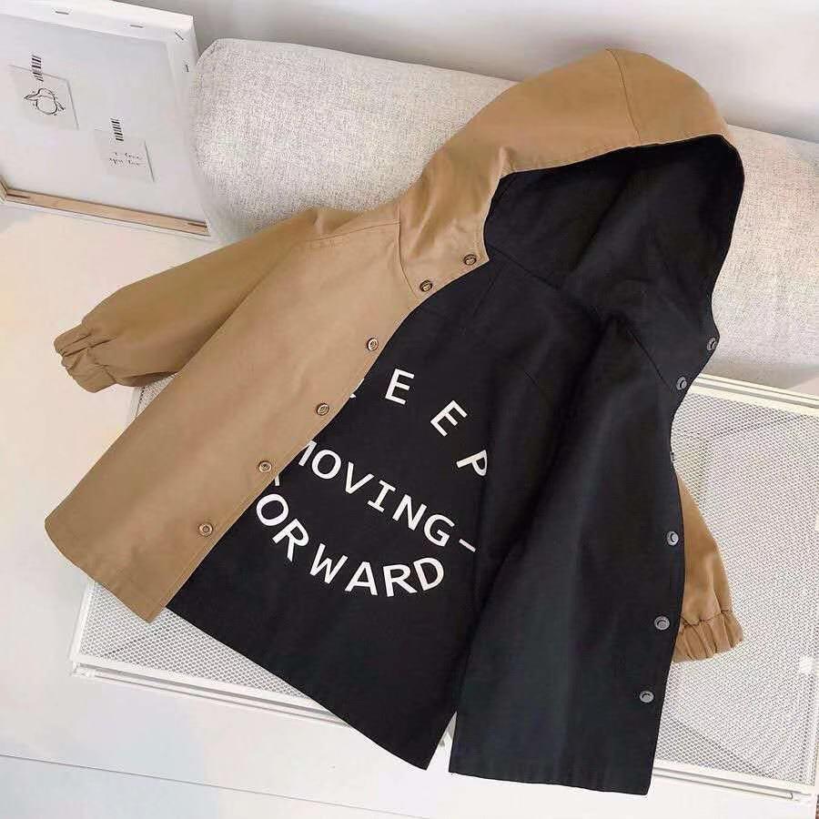 Children's baby windbreaker jacket for Boy winter Autumn kid Double-faced boys parka kids child Trench Coat girls Cotton Jackets