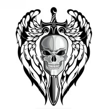 Winged Skull Car Sticker Vinyl Auto Accessories Car Window Car Styling Decal PVC 15cmx12cm Cover Scr