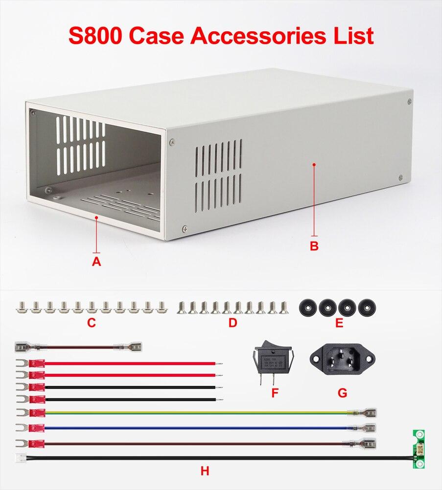 صندوق فولتميتر خارجي ، مزود طاقة رقمي S800 ، حماية كاملة لـ RD6012/RD6012W/RD6018/RD6018W 4 بت