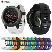 Yayuu Soft Silicone Replacement Watch Band with Tools for Garmin Fenix 3/Fenix 3 HR/Fenix 6X/5X/5X Plus/D2 Delta PX/Descent MK1