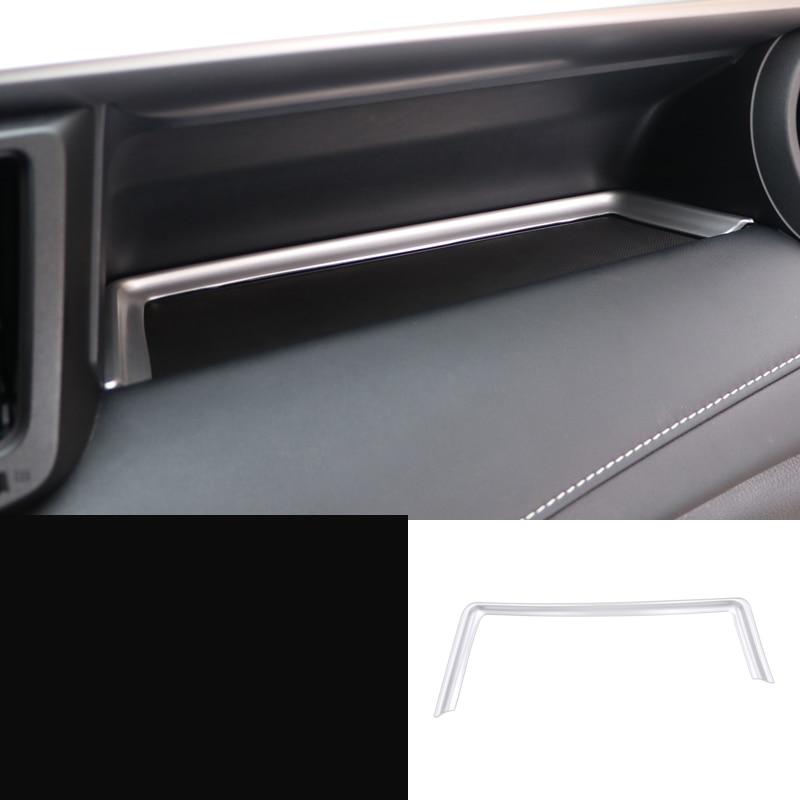 lsrtw2017 abs car co-pilot storage box trims for toyota rav4 2013 2014 2015 2016 2017 2018 xa40 chrome accessories auto styling