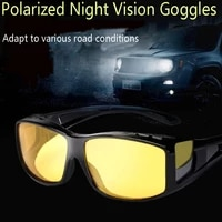2pcs polarized car night vision goggles sunglasses night driving glasses driver goggles unisex uv400 eyewear auto accessries