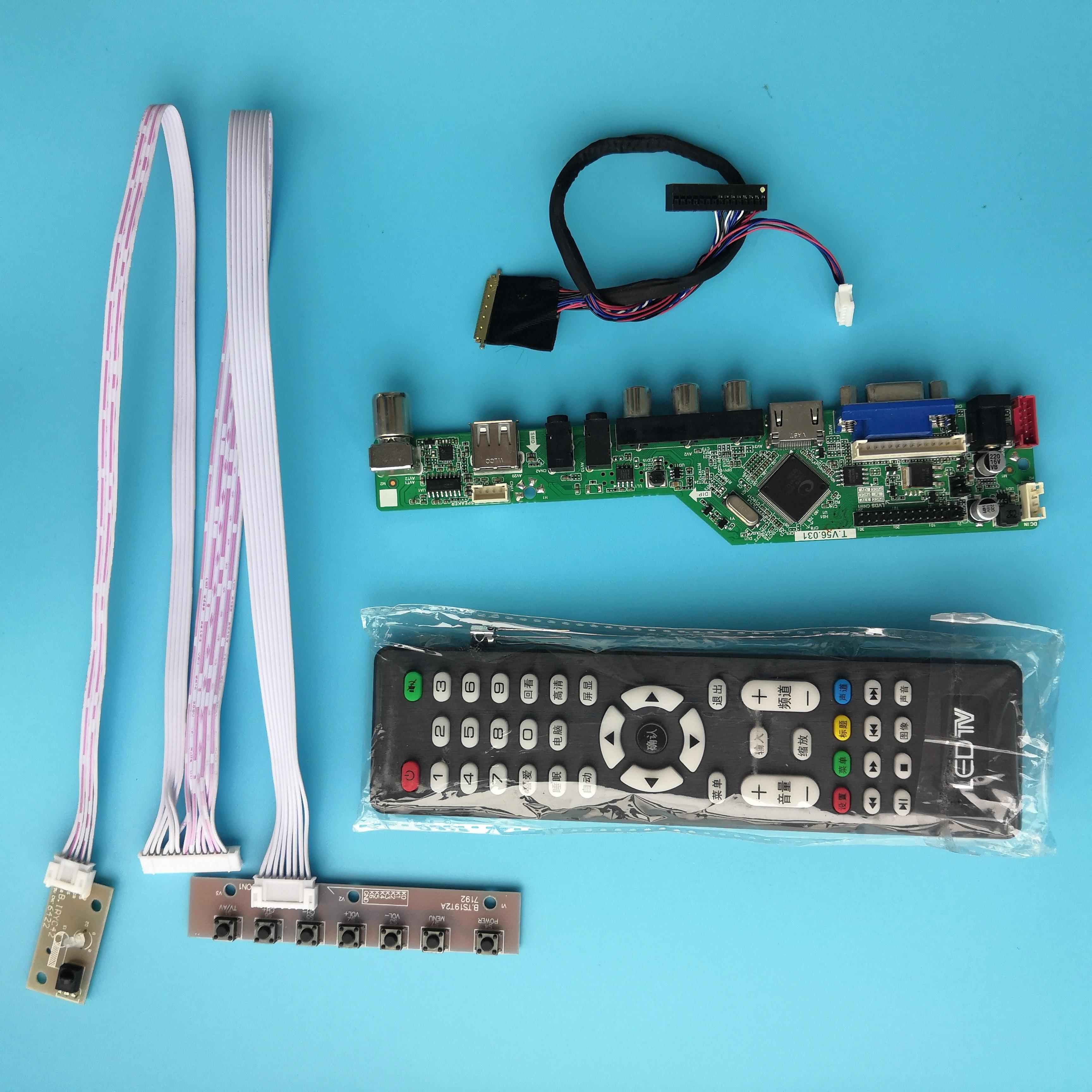 "Kit para LP173WD1 17,3 ""VGA USB remota HDMI 40pin LVDS TV AV Panel de pantalla LCD LED 1600X900 controlador Junta"