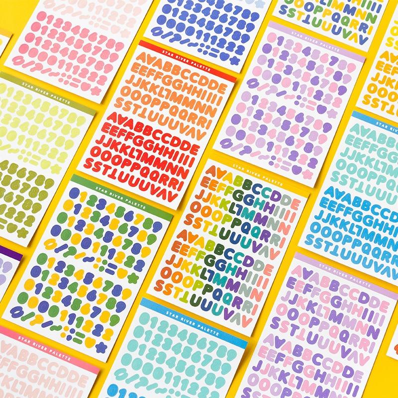 6 fogli adesivi alfabeto adesivi autoadesivi per lettere