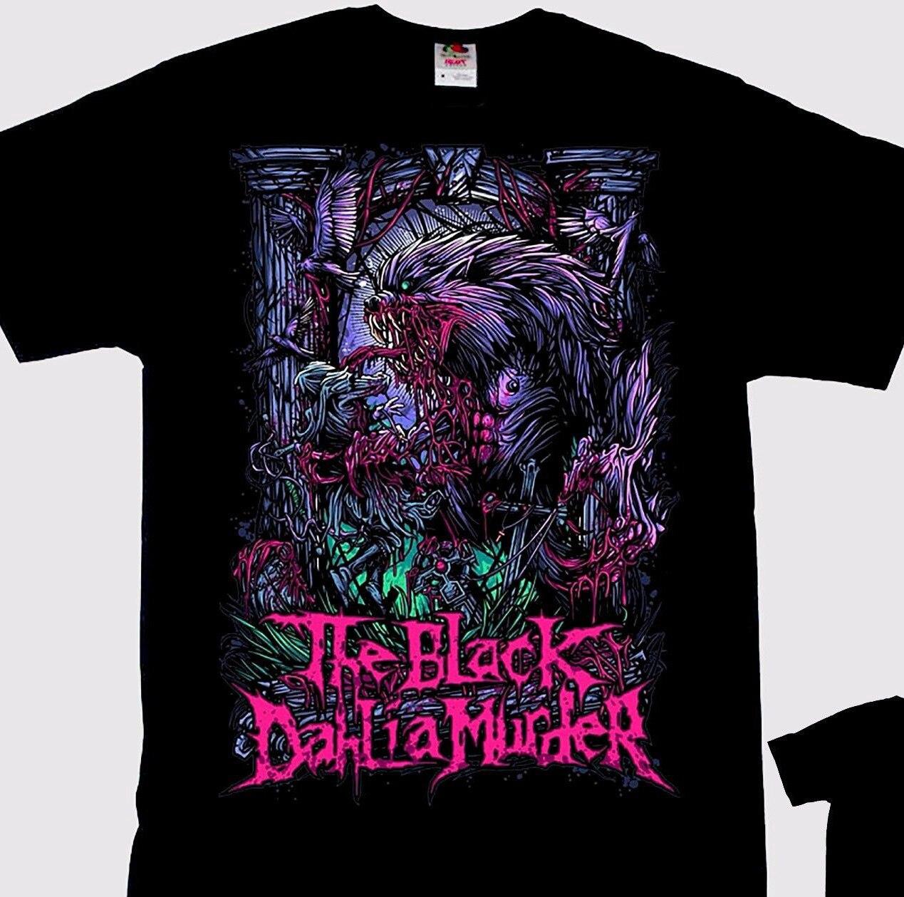 Camiseta negra Dahlia Murder Wolfman Death Metal Band tallas: S a 7Xl NOVEDAD DE VERANO Camiseta de algodón para hombre