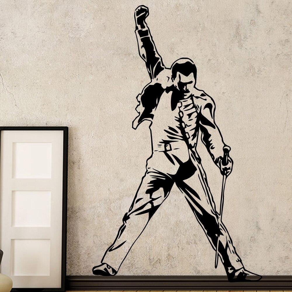 Vintage Freddie Mercury reine bande musique Rock vinyle autocollants papier peint pour chambre décoration chambre salon mur décor
